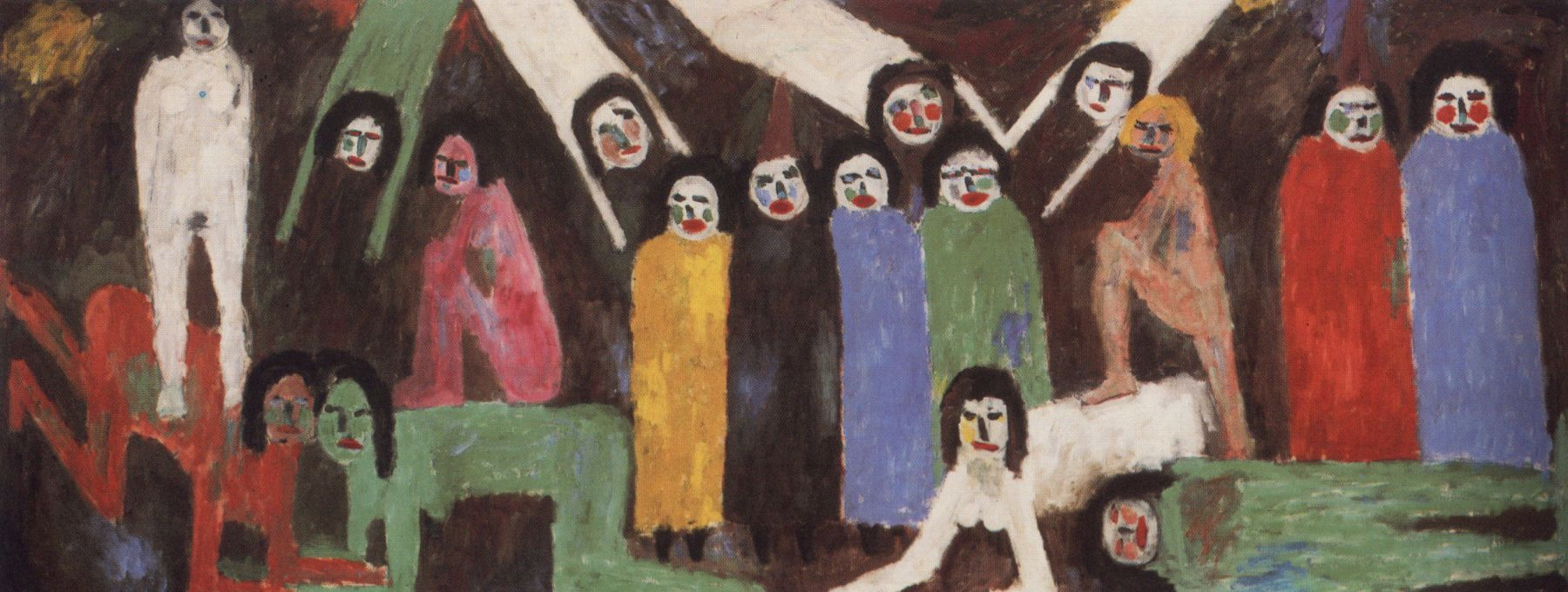 Jan Müller, The Concert of Angels, 1957, oil on canvas, 56 1/2 x 148 inches (cou