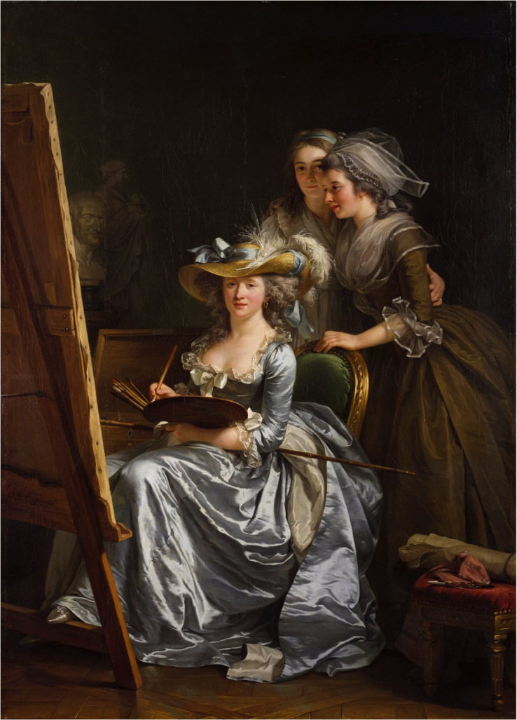 Adélaïde Labille-Guiard, Self–Portrait with Two Pupils, Mademoiselle Marie Gabri