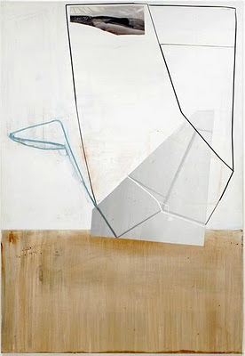 Gordon Moore, Hood, 2011, oil, pumice, latex on canvas, 82 x 56 inches (courtesy
