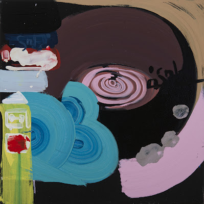 Rachel Vanderzwet, Headphones/ Spin Me, 2012, oil on canvas, 24 by 24inches (cou