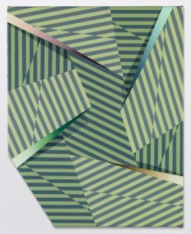 Tomma Abts, Fenke, 2014, acrylic and oil on canvas, 18 7/8 x 15 inches (courtesy