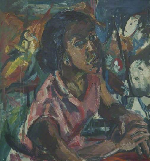 Albert Adams, Miss Rhoda Samuels, 1958, oil on canvas, 76 x 71 cm (© Albert Adam