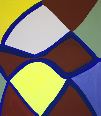 Marina Adams, Deep Kissing (for Hudson), 2014, acrylic on linen, 78 x 68 inches