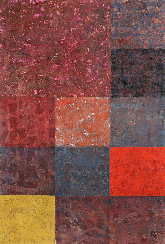 Pat Adams, Behold, 2004, mixed media on linen, 35 1/8 x 23 1/2 inches (courtesy of Victoria Munroe Fine Art)