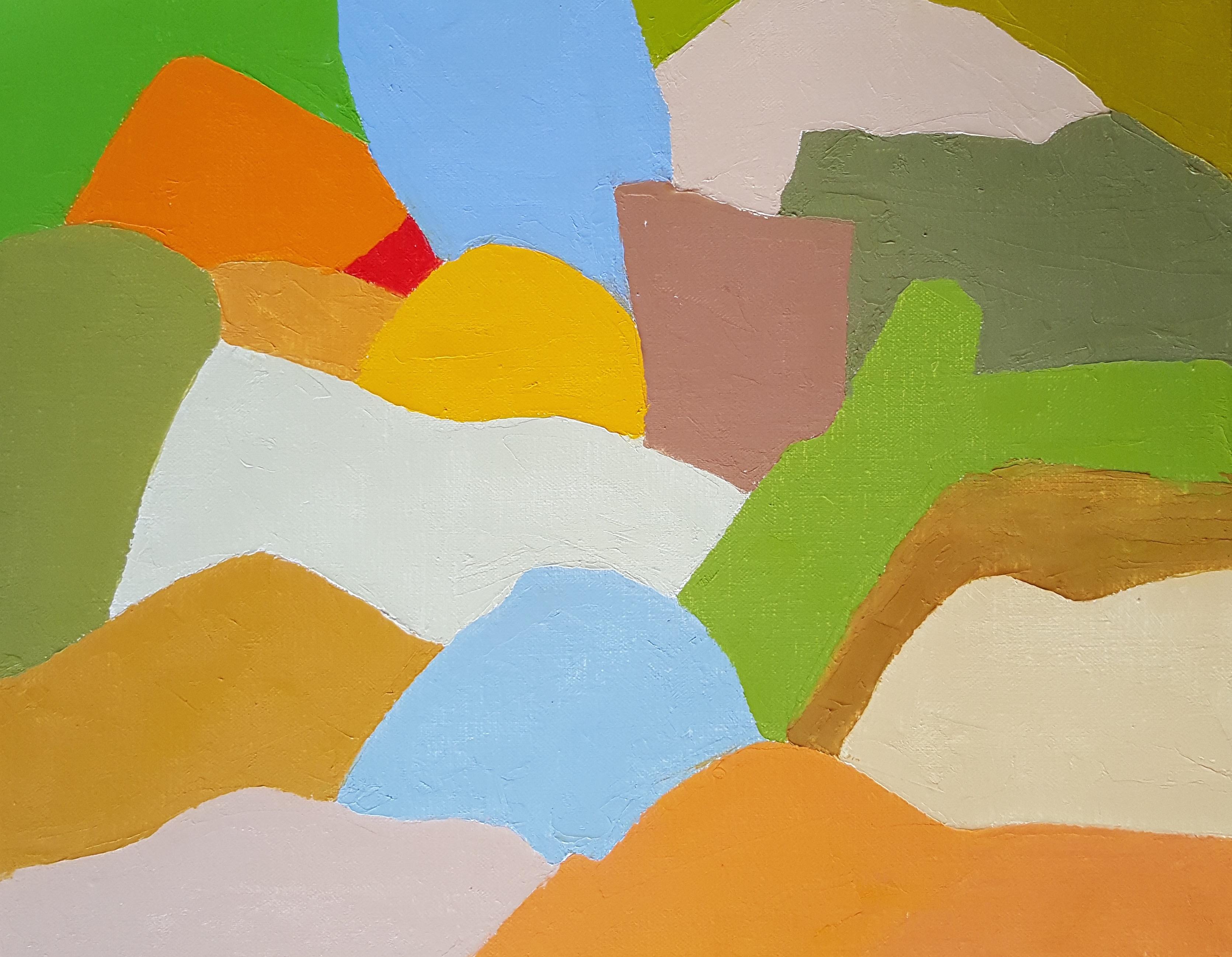 Etel Adnan, Untitled, 2015, oil on canvas, 33 x 41 cm (courtesy of Sfeir Semler