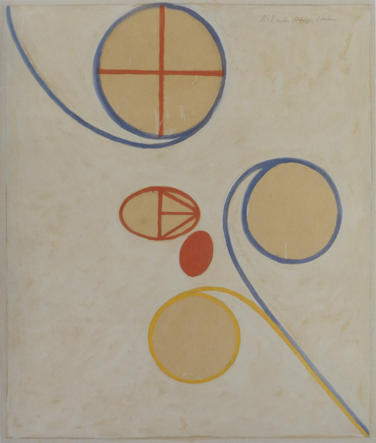 Hilma af Klint, The Seven-Pointed Star, No. 2, 1908, tempera, gouache, and graph