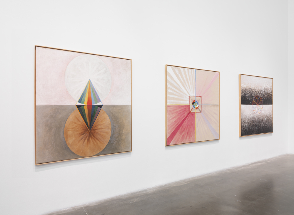 Installation view: Hilma af Klint paintings in The Keeper at the New Museum, New York (photos by Maris Hutchinson / EPW Studio)