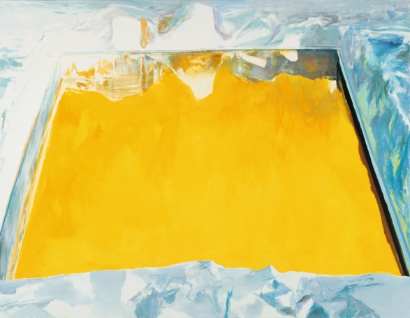Eric Aho, Ice Cut (Arctic Sky), 2015, oil on linen (courtesy of the artist and D