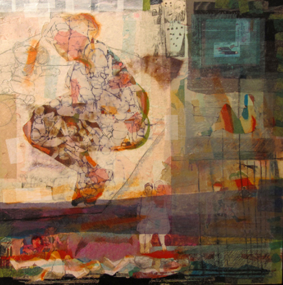 Hiba Akkad, Untitle, 2012, mixed media on canvas work (courtesy Galerie Tanit)