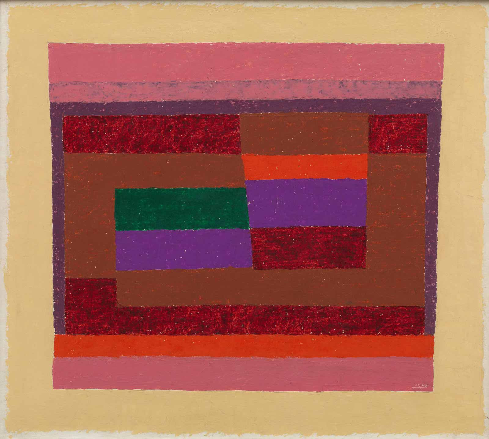 Josef Albers: Memento, 1943 (courtesy of the Guggenheim Museum/Estate of Karl Nierendorf)
