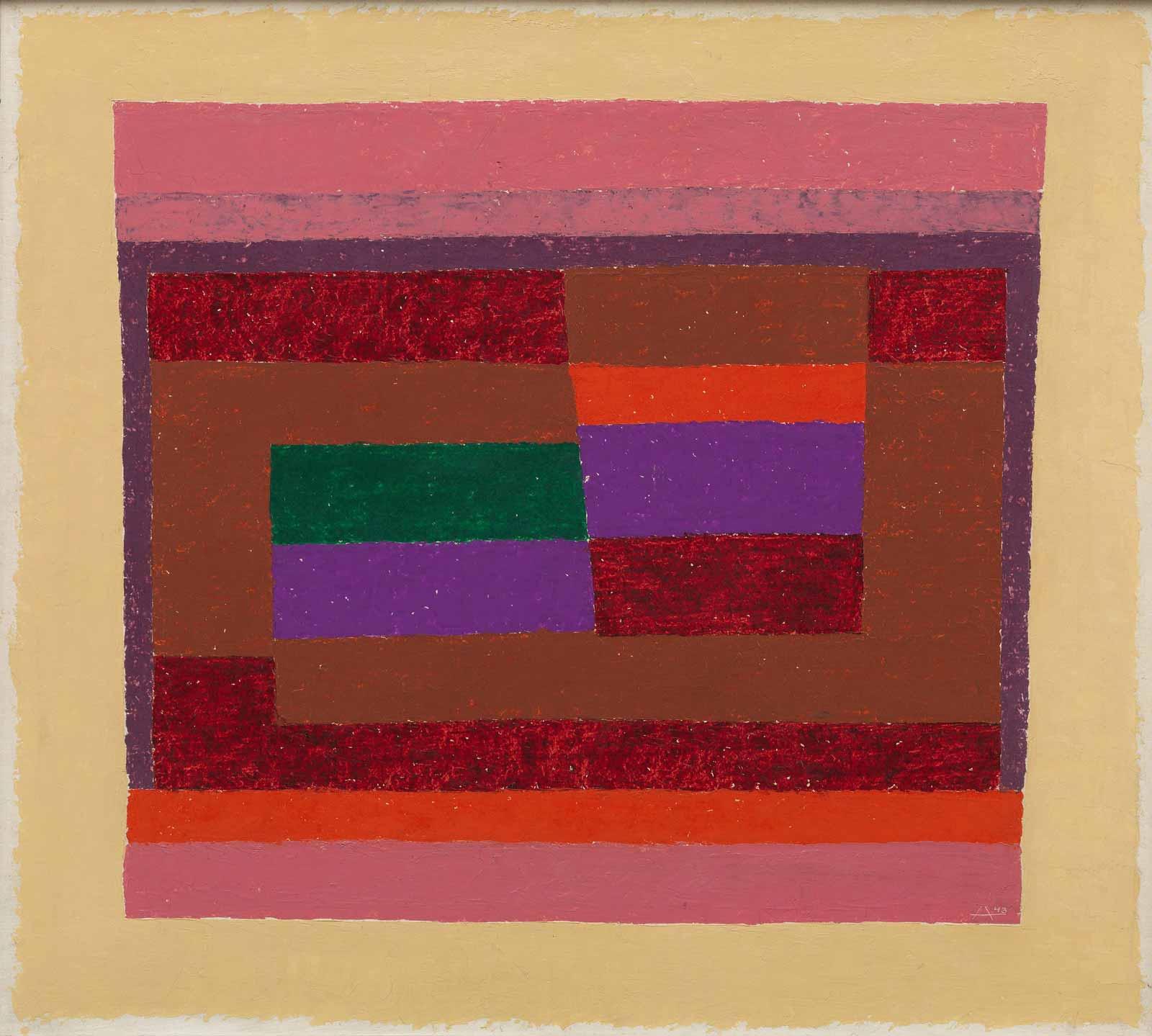 Josef Albers: Memento, 1943 (courtesy of the Guggenheim Museum/Estate of Karl Nierendorf)