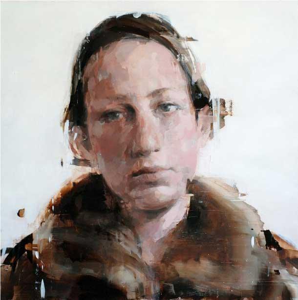 Alex Kanevsky, J.F.H. 48 x 48 inches, oil on board, 2011