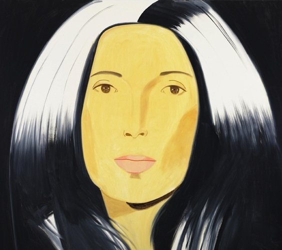 Alex Katz,  Anna, 2010,  oil on linen, 80 x 84 inches (courtesy Gavin Brown's En