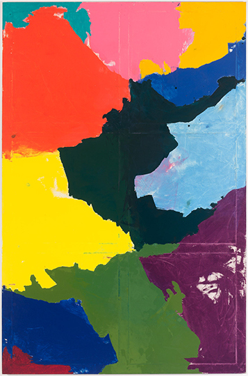 Jonathan Allmaier, Untitled (Plastic Points), 92 x 60 ½ inches, oil on canvas, 2
