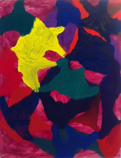 Jonathan Allmaier, Untitled (13 Bumps), 2013, oil on canvas, 77 1/2 x 59 1/8 inc
