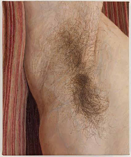 Ellen Altfest, Armpit, 2011, oil on canvas, 21×18 cm (courtesy ofthe artist an