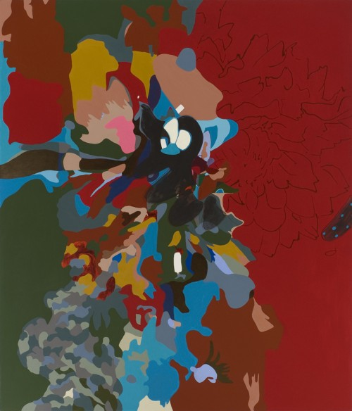 Candida Alvarez, DaDaDahlia, 2005-08, acrylic on canvas, 6ft x 7ft (courtesy of