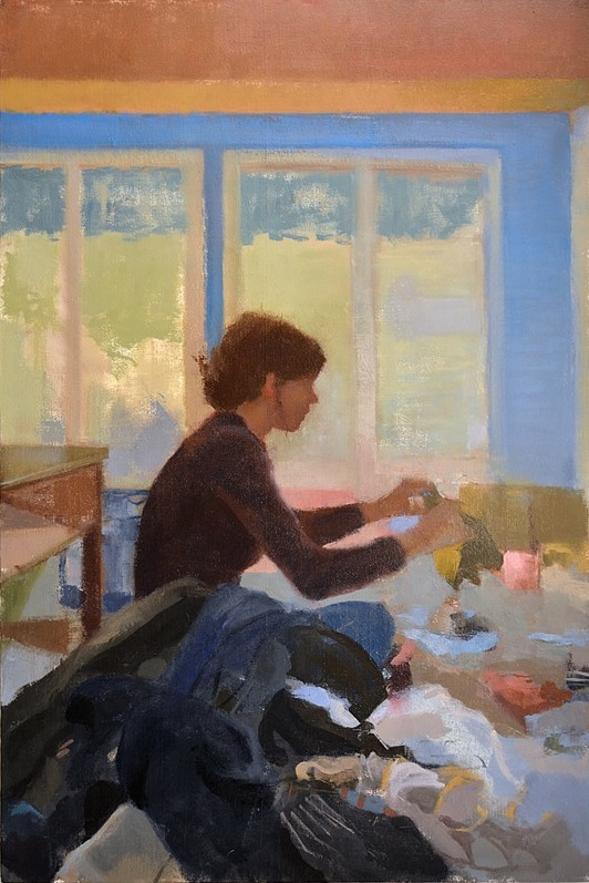 Rob Anderson, Laundry, 2013, oil on canvas 36 x 24 inches (courtesy of the artis