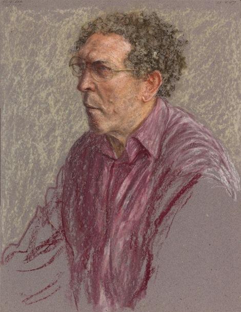 Avigdor Arikha, Self-Portrait in a Fuchsia Shirt, 1987. (© The Estate of Avigdor
