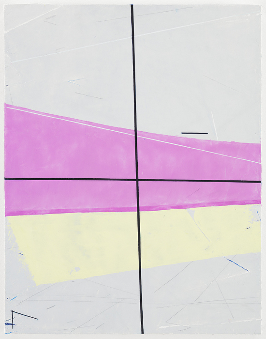 Eve Aschheim, Bullet, 2013, oil and graphite on canvas on panel, 14 1/16 x 18 1/