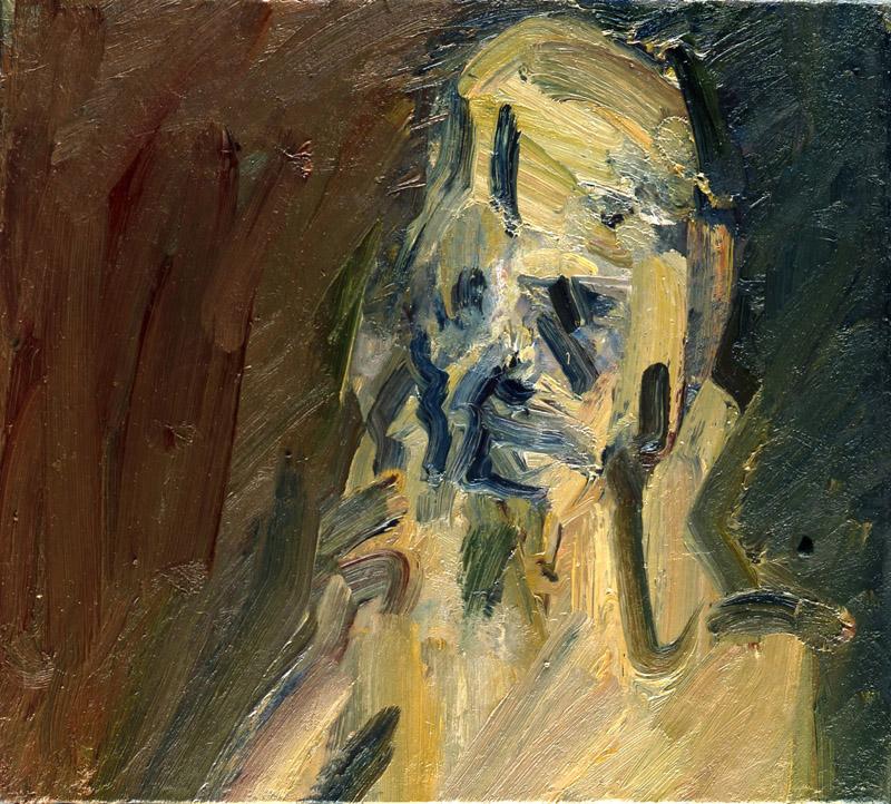 Frank Auerbach, Portrait of Catherine Lampert, 2010, oil on canvas, 20 1/8 × 22