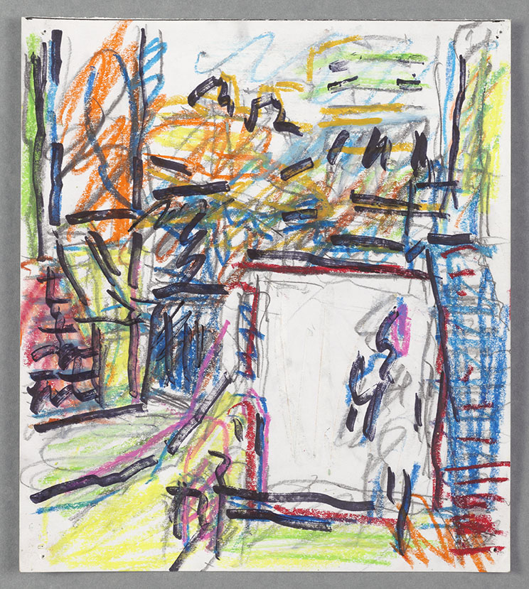 Frank Auerbach, Next Door VI, 2011-12 oil on pastel and other media on paper 23.