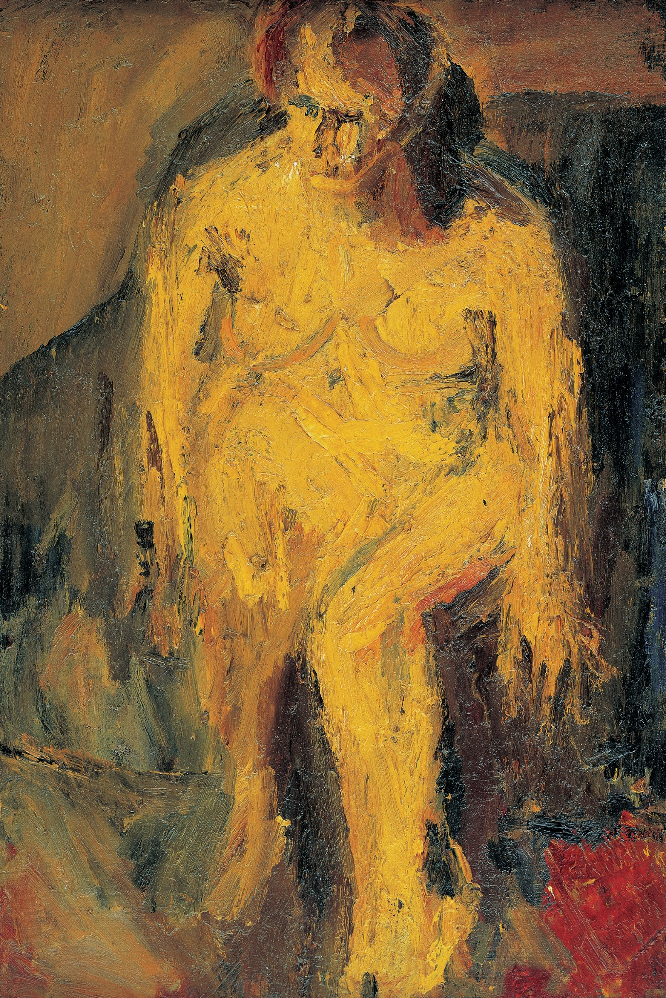 Frank Auerbach, EOW Nude, 1952 (Private Collection)