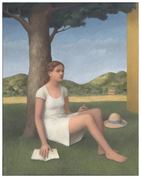 William Bailey, Dreaming in Umbria, 2015, oil on linen, 28 x 22 inches (courtesy
