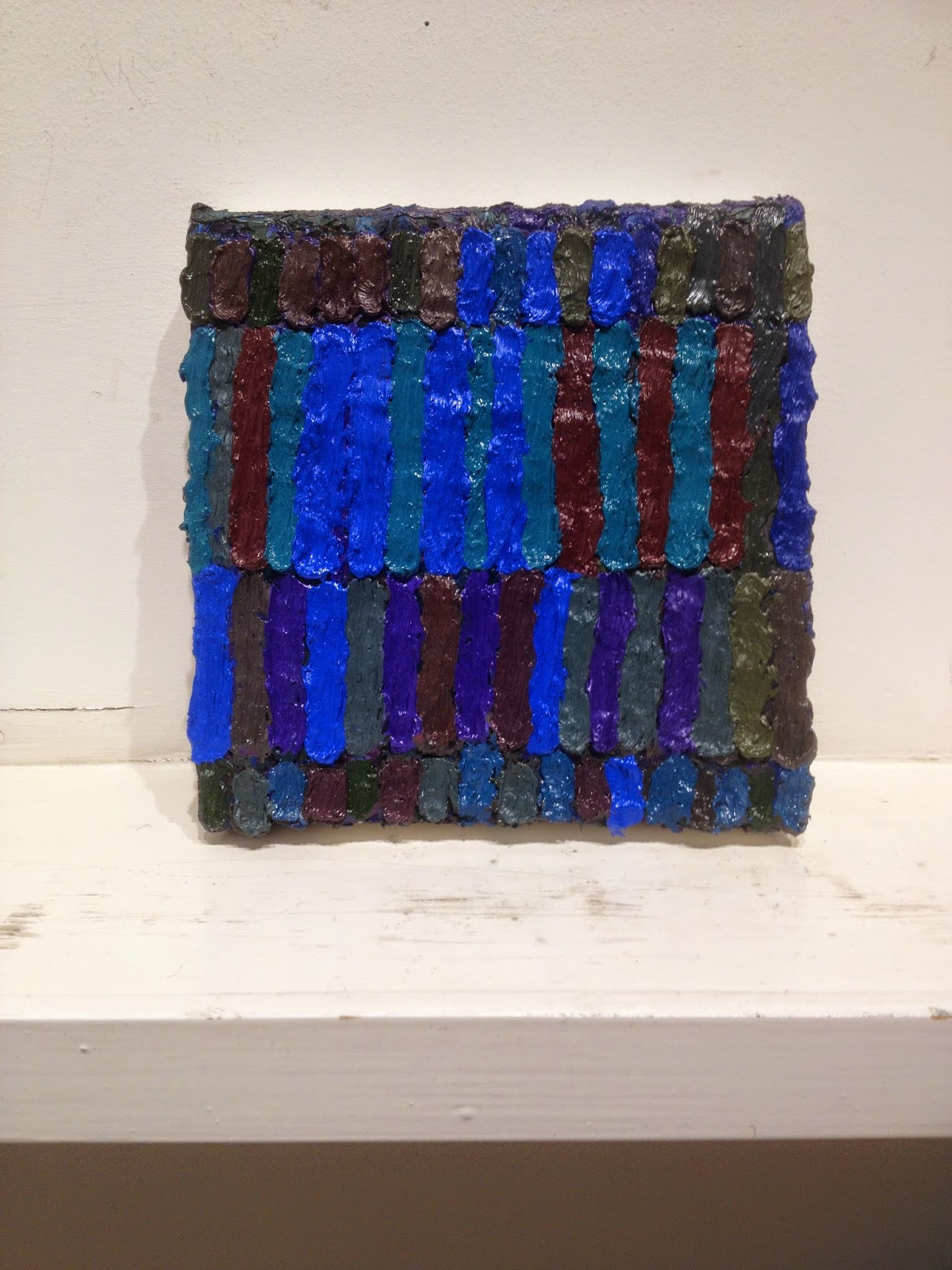 Brett Baker, Moon, Then Studio, 2014-2015, oil on canvas, 6 x 6 inches (photo: S