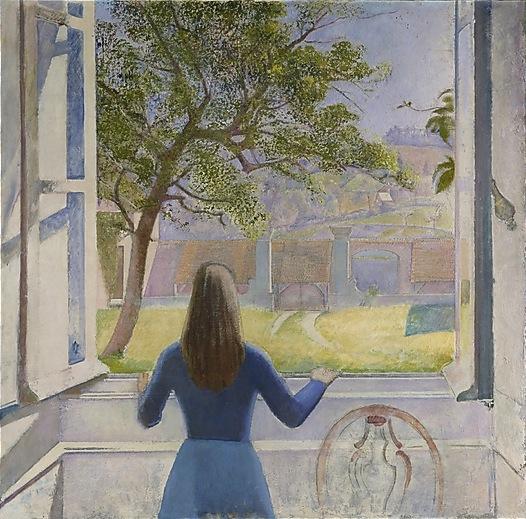 Balthus, Girl at a Window, 1957, 63 x 63 3/4 inches, oil on canvas (Metropolitan