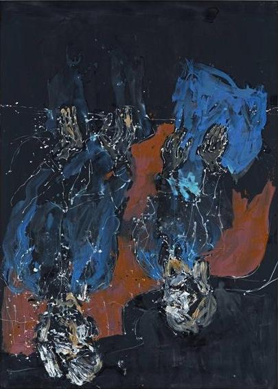 Georg Baselitz, Komplementär bräunlich 2012, oil on canvas, 114.17 x 81.89 inche