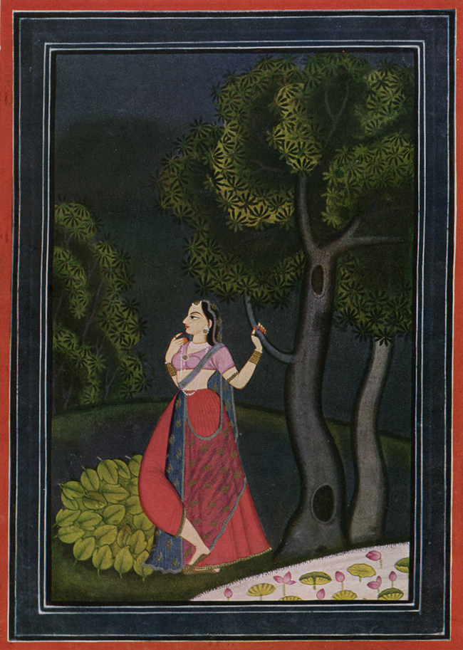 The Vigil of the Expectant Heroine, Chamba, c. 1760–80 (source: 50 Watts)