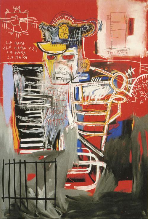 Jean-Michel Basquiat, La Hara, acrylic and oil paintstick, 72 x 48 inches, 1981