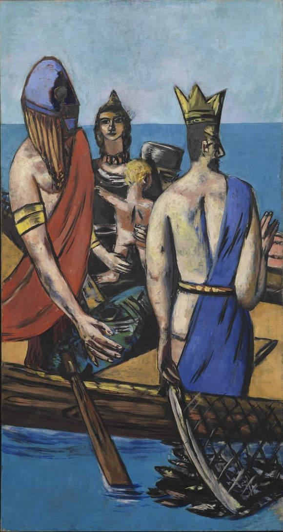 Max Beckmann, Departure (center panel) 1932/1933,1935, oil on canvas (Museum of Modern Art, New York)