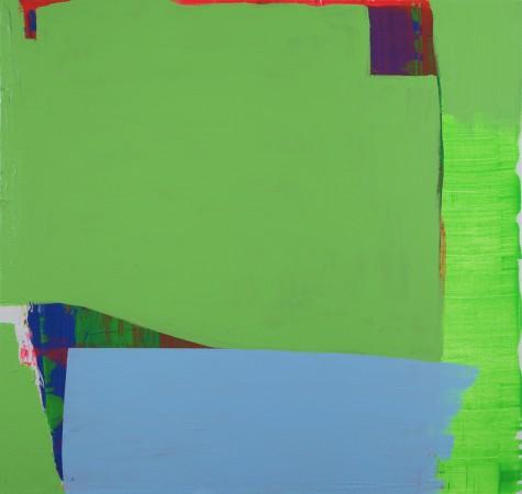 Paul Behnke, Die Blaue Brücke, 2011, acrylic on canvas, 117 x 112cm (courtesy of