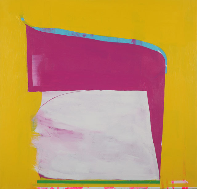 Paul Behnke, A Kind of Grail, 2012, acrylic on canvas, 48 x 50 inches (courtesy