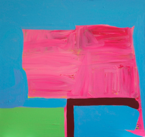 Paul Behnke, Vandervoort Place, 2012, acrylic on canvas, 36 x 38 inches (courtes