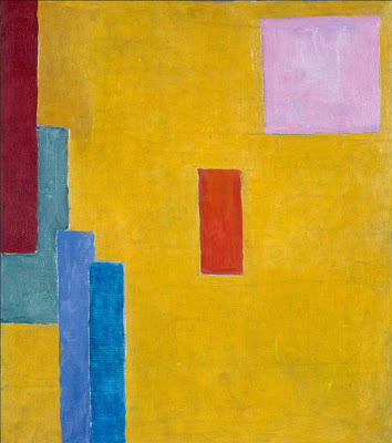Vanessa Bell, Abstract Painting, c. 1914, gouache and oil on canvas, 17 3/8 x 15