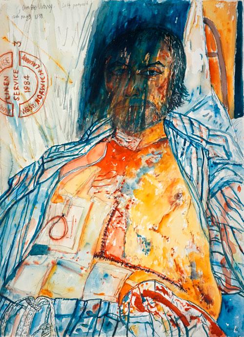 John Bellany. Self-Portrait (from the Addenbrooke's Hospital Series), 1988, wate