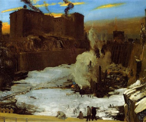 George Bellows, Pennsylvania Station Excavation, 1909 (Brooklyn Museum of Art)