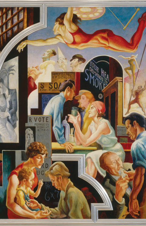 Thomas Hart Benton (American, 1889–1975). City Activities with Dance Hall from A