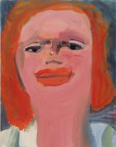 Margot Bergman, Gloria Jean, 2011, acrylic on found canvas, 20 x 16 inches (courtesy of Anton Kern Gallery)