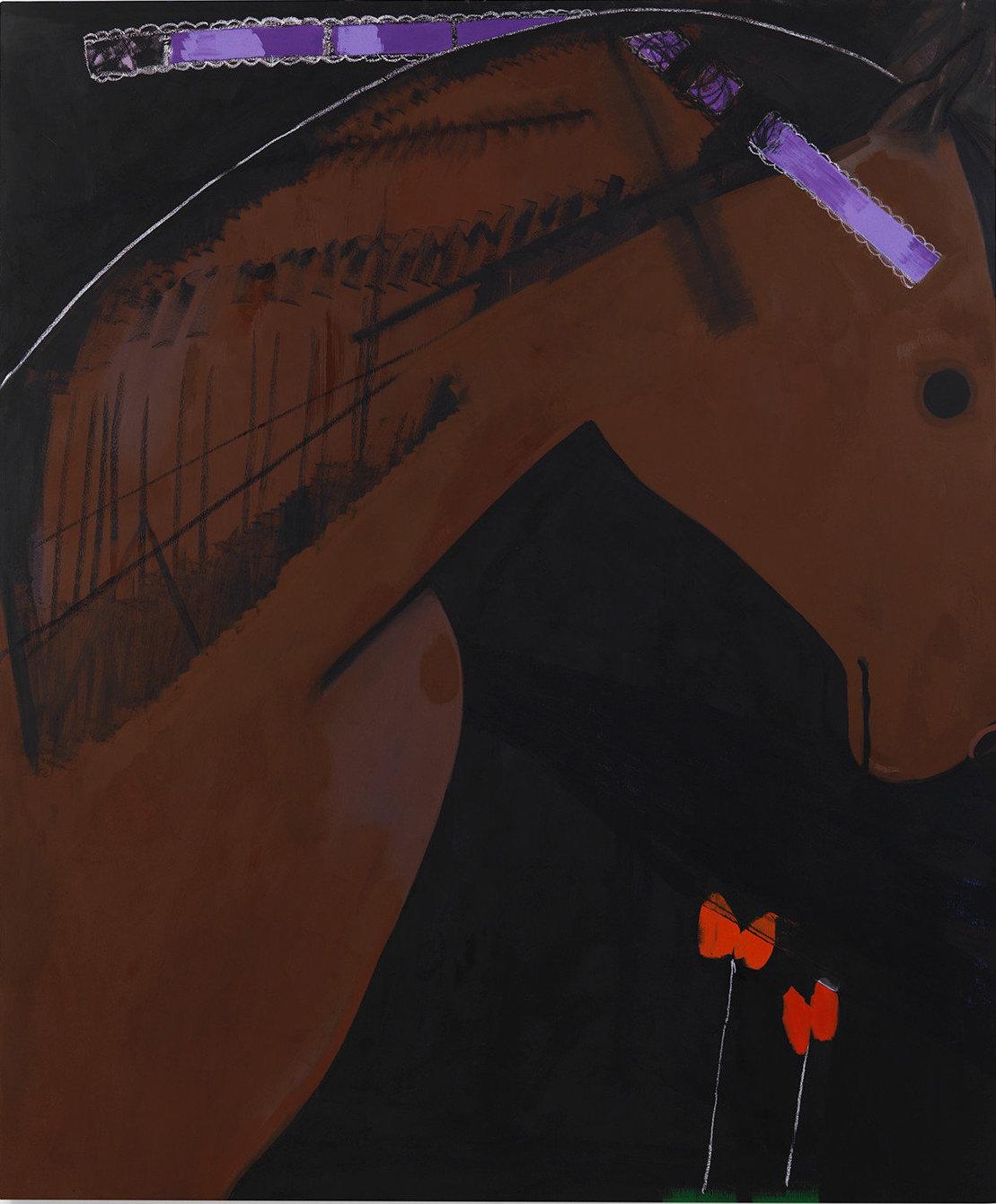 Ellen Berkenblit, Lilac, 2016, oil on linen, 77 x 64 inches (courtesy of Anton Kern Gallery)