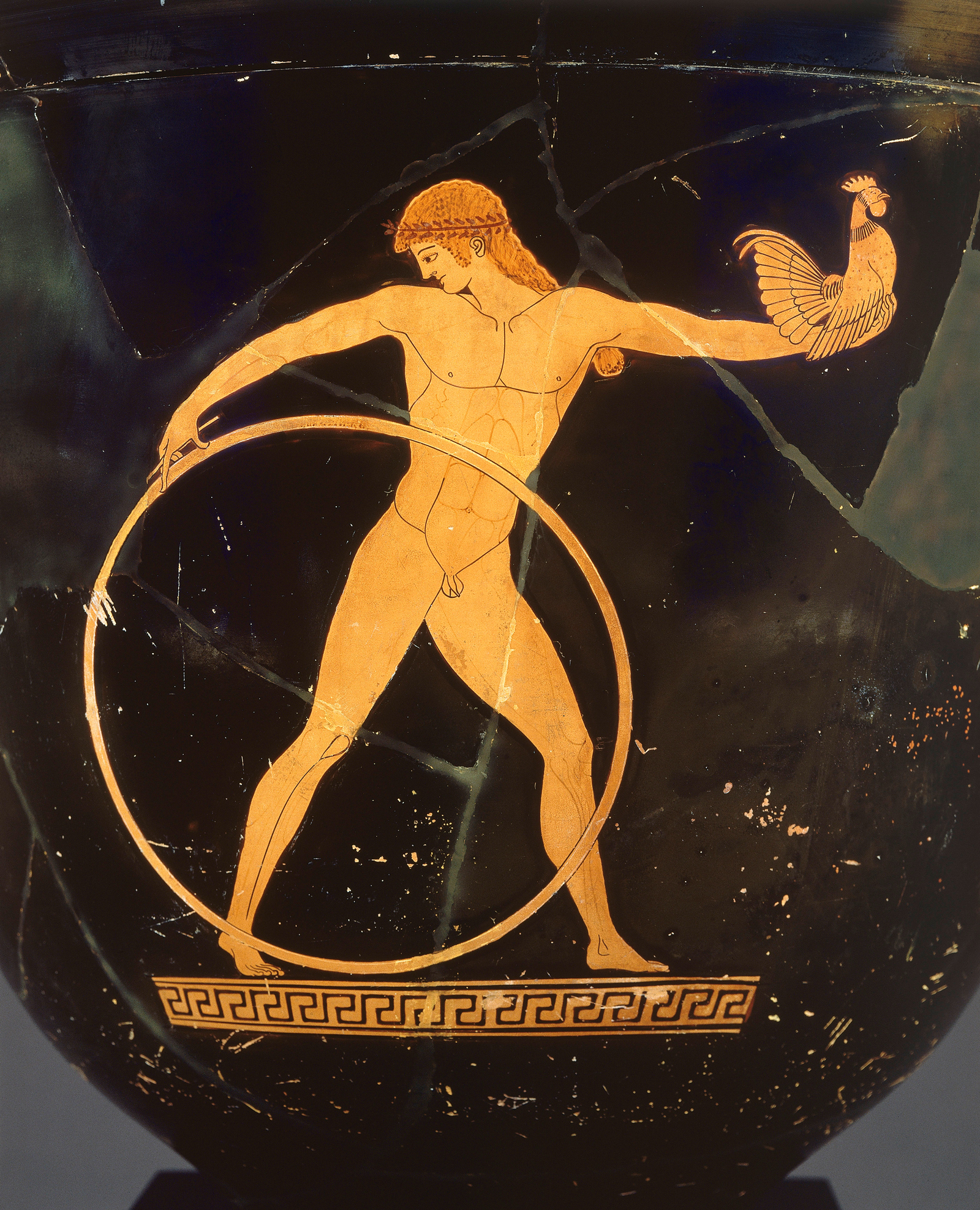 Attributed to the Berlin Painter, c. 500-490 BC, Red-figure bell-krater showing Ganymede, described in the Iliad as the most beautiful of mortal men (Musée du Louvre/RMN-Grand Palais/Art Resource)