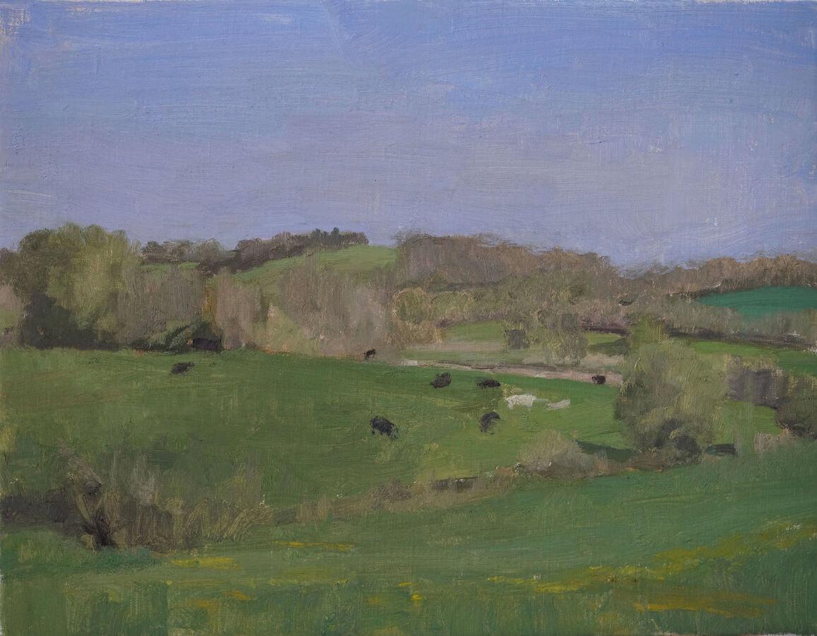 Beth Bernhardt, Chemin Rural de la Rivière, 2017, oil on linen, 27 x 35 cm (courtesy of the artist)