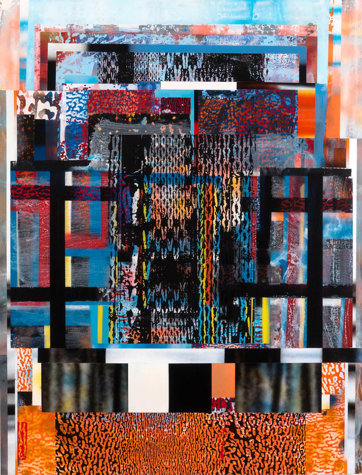 Patrick Berran, Untitled, 2017, acrylic and toner on panel, 60 x 46 inches (courtesy of Chapter NY)