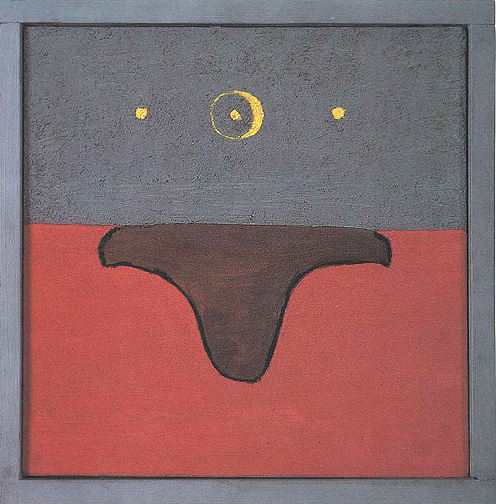 Forrest Bess, Untitled, 1970, 14 x 14 inches, oil on canvas