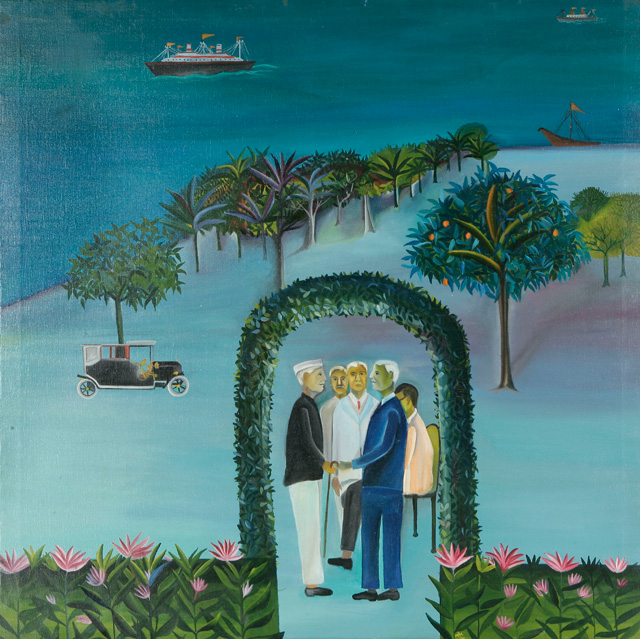 Bhupen Khakhar, Man Leaving (Going Abroad), 1970 (courtesy of Tapi Collection, I