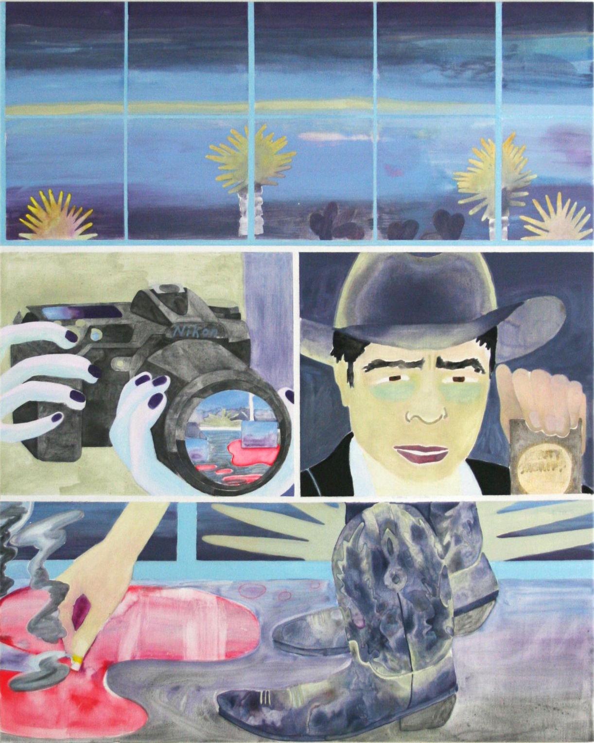Tess Bilhartz, Deputy, 2015, acrylic and oil on panel, 24 x 30 inches (courtesy