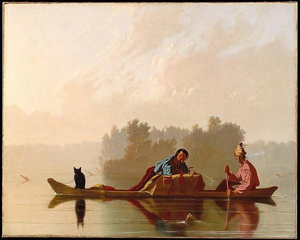 George Caleb Bingham, Fur Traders Descending the Missouri, 1845, oil on canvas,